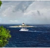 Burzana wyspie Hvar