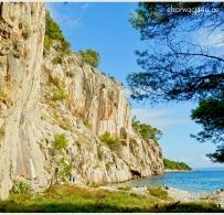 Skały przy plaży Nugal
