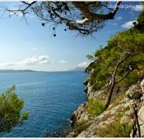 Widok z drogi do plaży Nugal