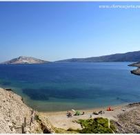Chorwacja, wyspa Pag plaża Rućica
